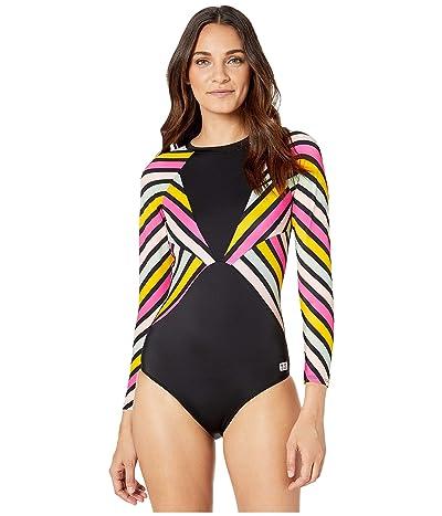 Roxy POP Surf Long Sleeve Back Zip One-Piece Rashguard (Antracite Pop Surf One) Women