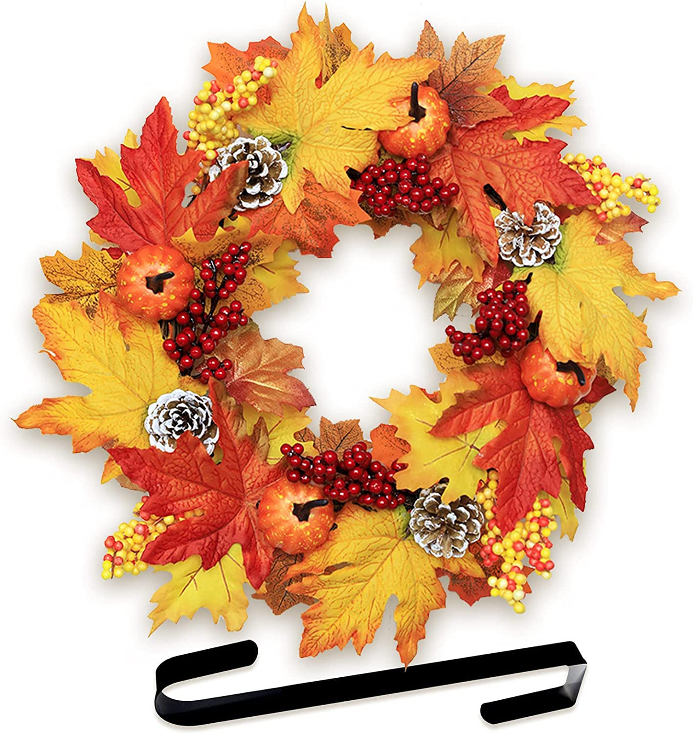 Halafs 25 Inch Fall Wreaths for Wall Max 66% OFF Dec Door Porch Fashion Front