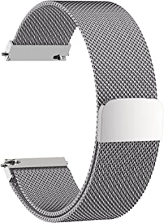 Fullmosa 18mm Watch Strap,6 Colors for Quick Release Milanese Watch Band,Silver