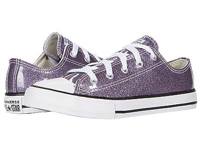 Converse Kids Chuck Taylor(r) All Star(r) Glitter Ox (Little Kid/Big Kid) (Thunder/White/Black) Girl