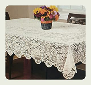Buckingham Lace Tablecloth 52 x 70 : Ivory : NOT White