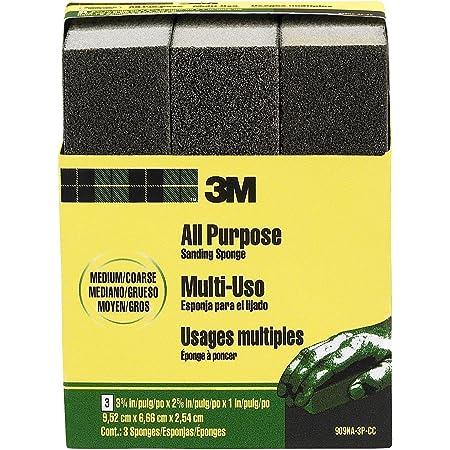 3M Medium/Coarse Sanding Sponge, 3-3/4-in x 2-5/8-in x 1-in, 3-Pack