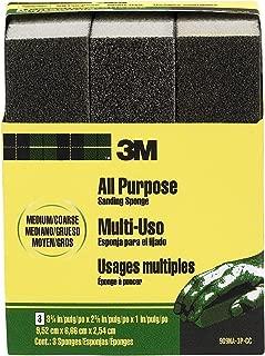 3M 909NA-3P-CC 3-3/4 by 2-5/8 by 1-Inch, Medium/Coarse Sanding Sponge, 3-Pack