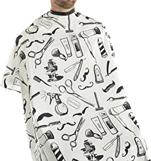 Vintage Tools Cape for Barbers and Stylists (White)