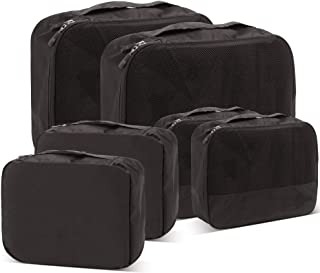 Packing Cubes for Travel Accessories Luggage Organizer Bag Set Clothes Carry on Suitcase Bags (Black)