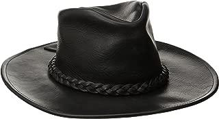Henschel Walker, Full Grain Leather, Shapeable Brim, Braided Band