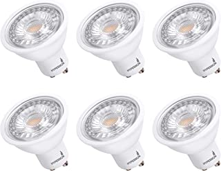 Hyperikon GU10 LED Bulb Dimmable, 50 Watt (6.5W), MR16 LED Bulb, 2700K, UL, Energy Star, 6 Pack