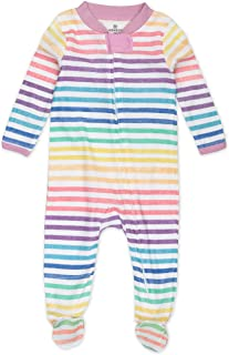 Honest Baby Clothing Unisex Baby Organic Cotton Sleep & Play Footies Baby and Toddler Sleepers