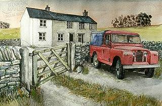 Toll2452 Red Series 1 Land Rover Metallschild Hausdeko Garage Mancave Lovely Geschenk