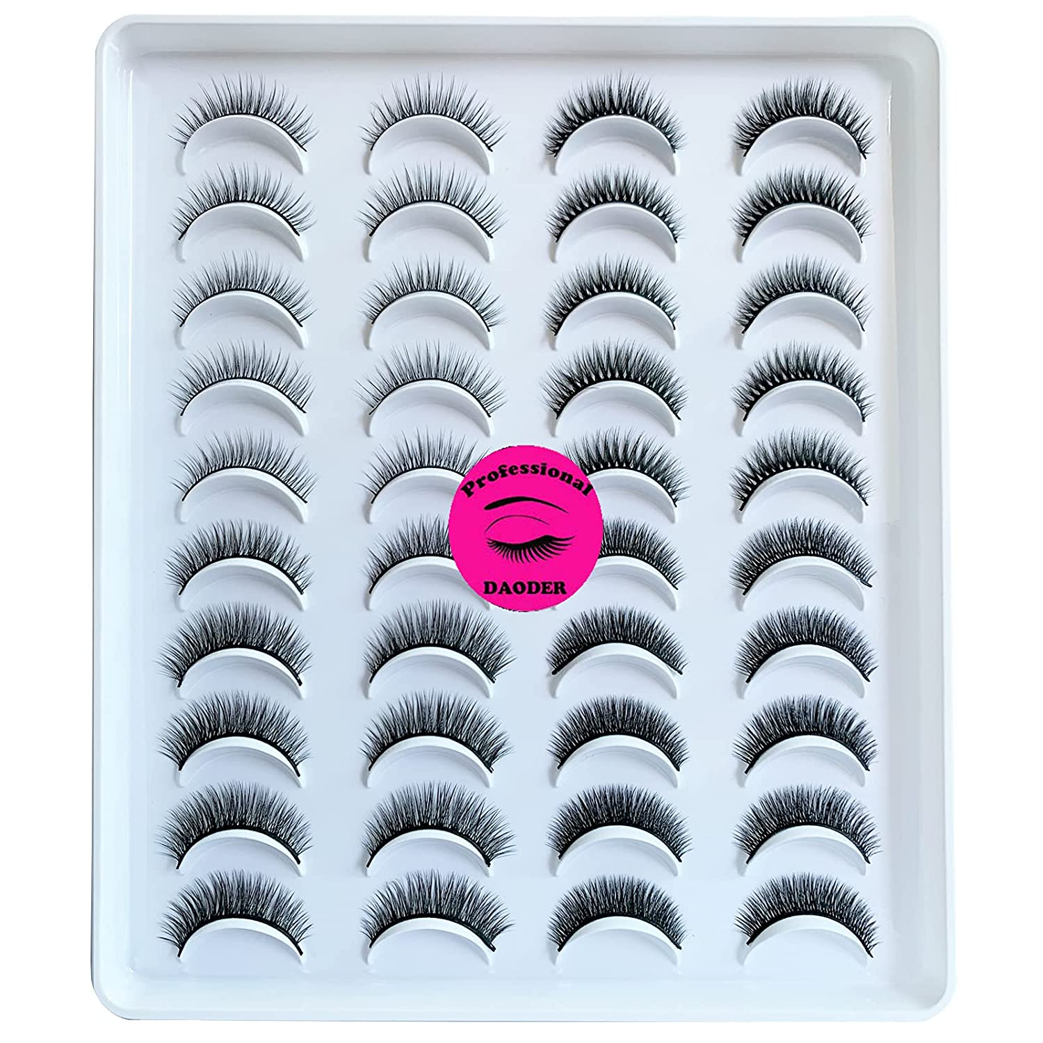 DAODER Online limited product Eyelashes Sales for sale False Lashes Natural Thick Faux Mink Look Short