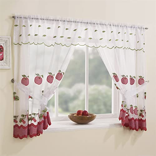 Red Kitchen Curtains Amazoncouk