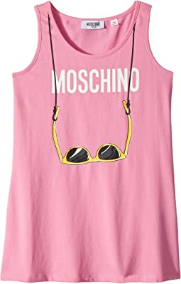 Moschino Kids - Logo Sunglasses Graphic Tank Top (Big Kids)