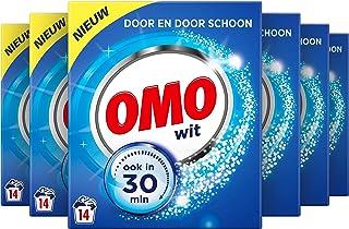 Omo Waspoeder Wit Wasmiddel - 6 x 14 wasbeurten - Voordeelverpakking
