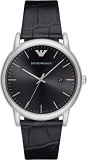 Men's AR2500 Dress Black Leather Quartz Watch