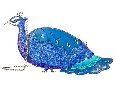 Betsey Johnson Fancy As Flock Crossbody (Blue) Cross Body Handbags