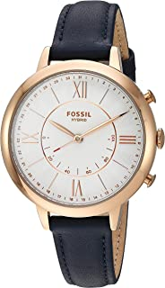 Fossil Women's Quartz Smartwatch smart Display and Leather Strap, FTW5014