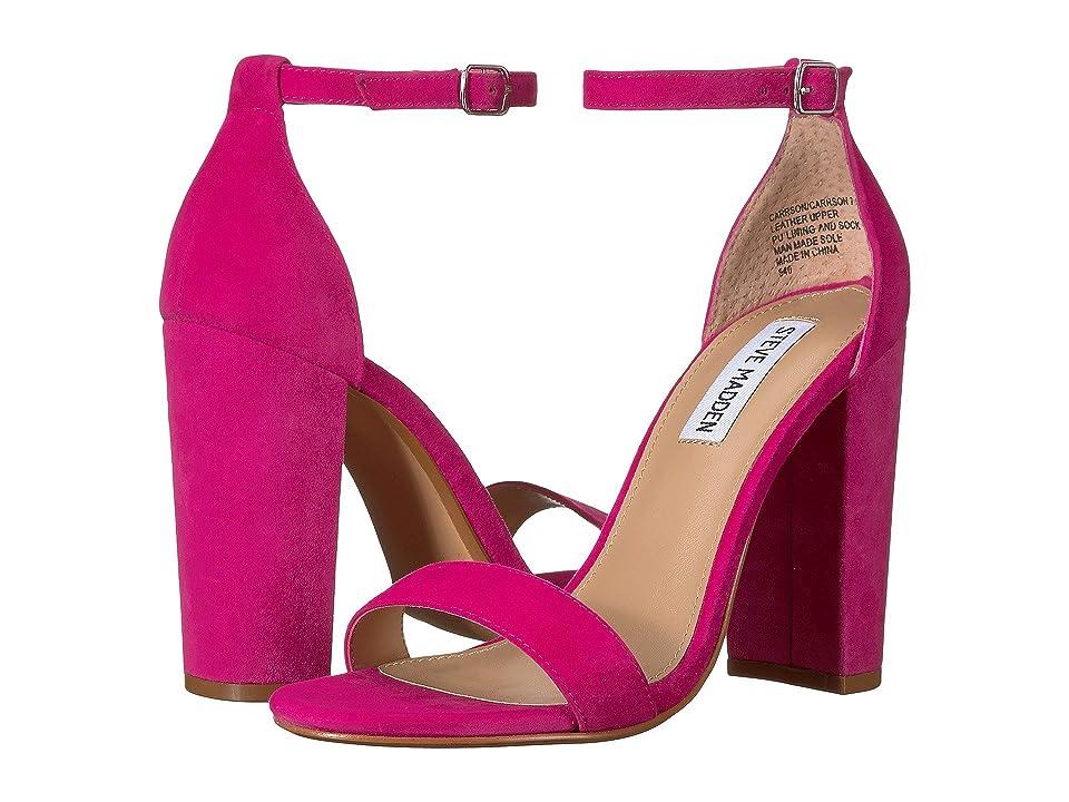 Steve Madden Carrson Heeled Sandal (Hot Pink) High Heels