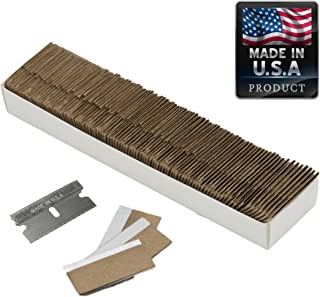 Razor Blades Utility Knife: Single Edge Razor Blades, Steel Box Cutter Blades USA-Made Utility Blades - 100 Pack, by WEUPE