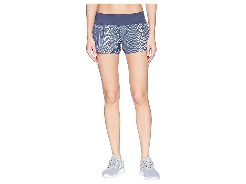 Nike Dry Crew Print Shorts (Purple Rise/Thunder Blue) Women