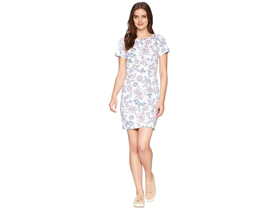 Joules Riviera Short Sleeve Printed Jersey Dress (White Indienne Floral) Women