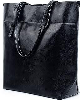 UTO Women Tote Bag Soft PU Leather Work Shoulder Bags Large Capacity Shopper Handbag(Version 2)