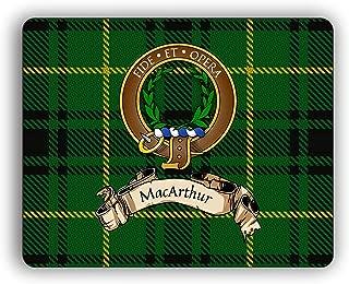 MacArthur Scottish Clan Tartan Crest Computer Mouse Pad