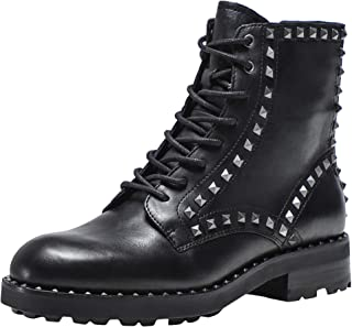 ASH Women's Studded Leather Wolf Boots Black