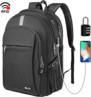 Business Laptop Backpack, Extra Large TSA Friendly Durable Anti-Theft Travel Backpack with USB Charging Port, Water Resistant College School Computer Bag for Women & Men Fits 15.6
