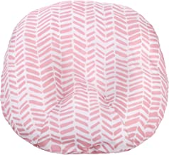 Water Resistant Removable Cover for Newborn Lounger   Pink Herringbone Design   Premium Quality Soft Wipeable Fabric   Great Baby Girl Shower Gift   Mila Millie (Pink Herringbone)