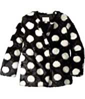 Kate Spade New York Kids - Polka Dot Faux Fur Coat (Little Kids/Big Kids)