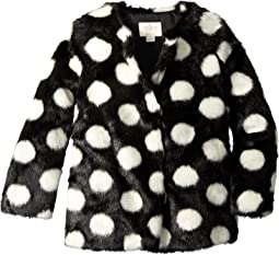 Polka Dot Faux Fur Coat (Little Kids/Big Kids)