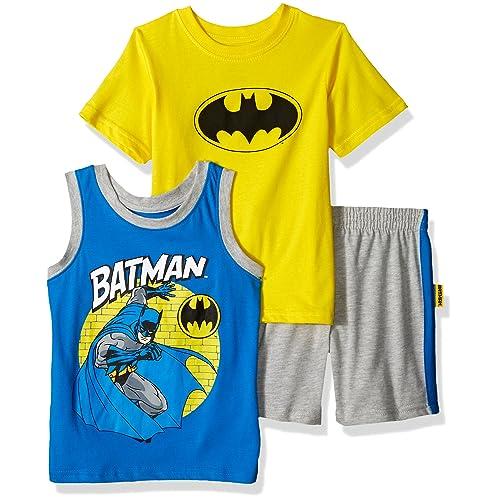 c7cf7774 Warner Bros Boys' Toddler Batman 3 Piece Short Set