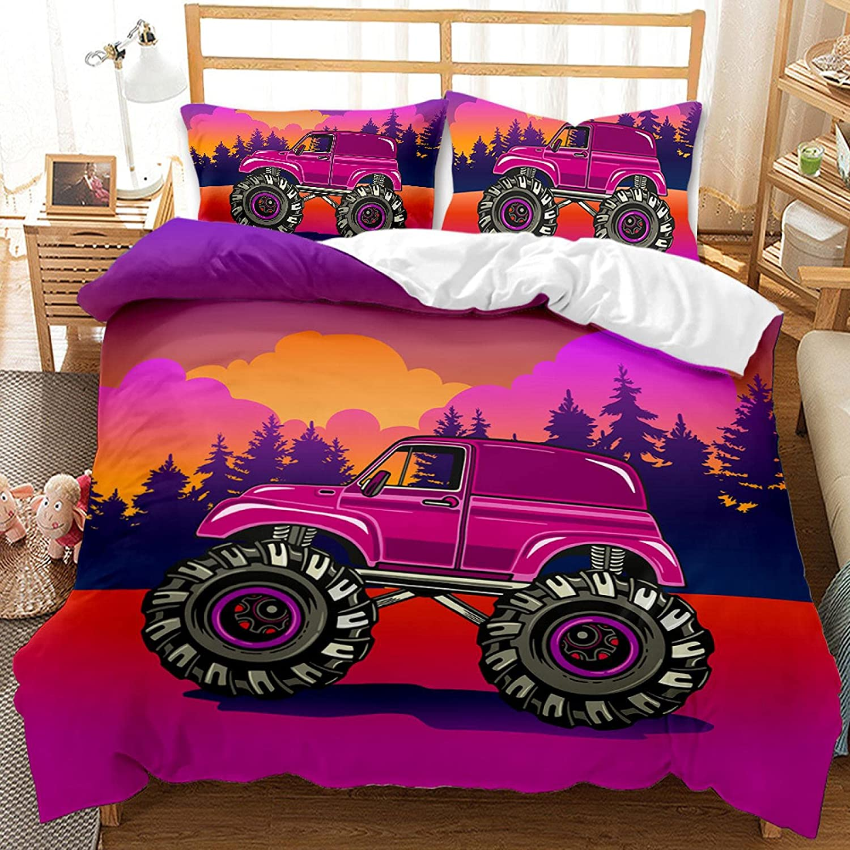 dsgsd Queen Duvet Outlet SALE Cover price Cartoon car Prin Jungle 230×230cm red