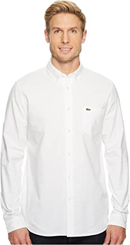 Lacoste - Long Sleeve Oxford Button Down Collar Regular