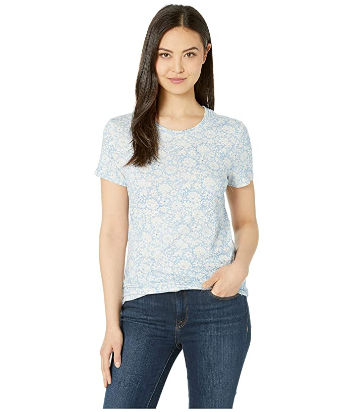 Lucky Brand  All Over Floral Tee (Blue Multi) Womens T Shirt