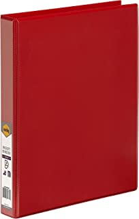 Marbig Clearview Insert Binder A4 4D Ring 25Mm Red