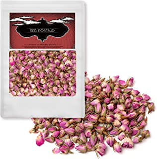 Farmer Queen Dried Rose Buds Flower for Fragrant Herb Tea Rich In Vitamin A, C for Rose Water, Baking Cooking 4oz(114g)
