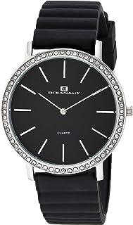 Oceanaut Women's Ripple Stainless Steel Quartz Rubber Strap, Black, 20 Casual Watch (Model: OC0261)