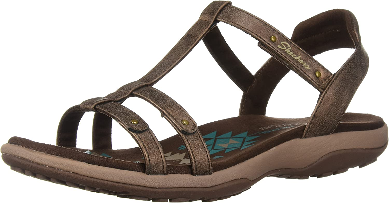 Skechers Women's Reggae Slim-Petals-T-Band Sandal Strap Limited Dallas Mall price Quarter