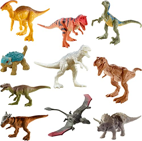 new arrival Jurassic World Camp Cretaceous outlet sale Multipack with 10 Mini Dinosaur Action Figures, Realistic Sculpting & One or More Movable Articulation Points Iconic sale to Its Species, 4 Years Old & Up outlet sale
