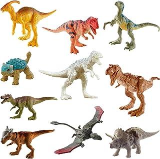 عبوة متعددة من عدة شخصيات مستوحاة من فيلم إيسلا نوبال من جوراسيك وورلد كامب تحتوي على 10 أشكال عمل ديناصور صغيرة مع نحت وا...