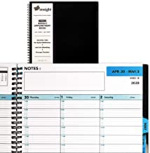 2020 Tabbed Appointment Book & Planner, Daily Hourly Weekly Planner, 8.5 x 11 inches, Calendar and Schedule Book 15-Minute time Slots, Twin-Wire Fastening, Durable Quality, Business and Personal