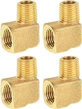 SUNGATOR Brass Pipe Fitting, 90 Degree Barstock Street Elbow, Welding Fitting, 1/4