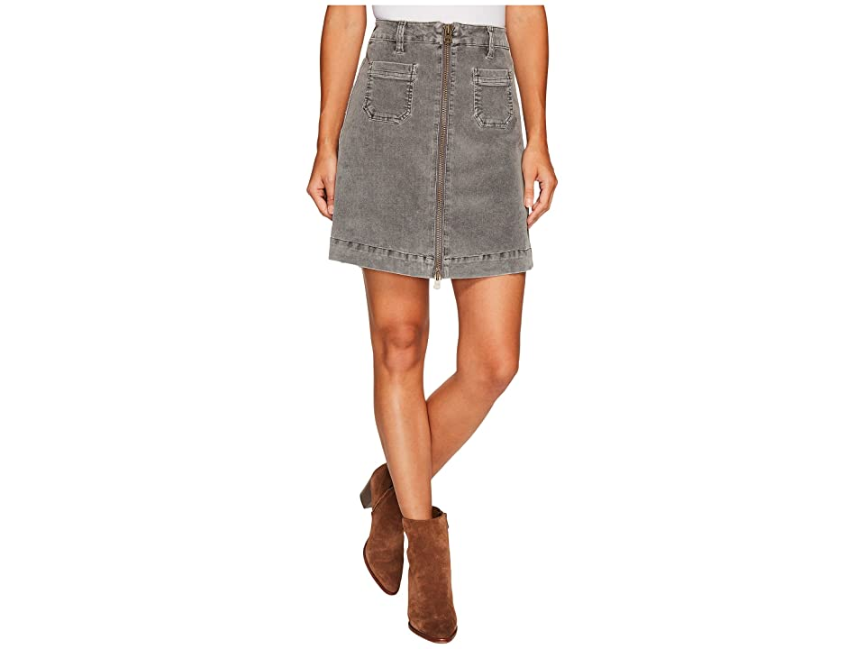 Jag Jeans McCamey Zip Front Skirt in Refined Corduroy (Charred) Women