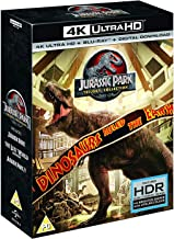 Jurassic Park Trilogy: The Complete 3 Movies Collection - Jurassic Park + Lost World + Jurassic Park 3 (4K UHD + Blu-ray + Digital Download) (6-Disc Box Set) (Region Free + Foil Slipcase Packaging) (Fully Packaged Import)