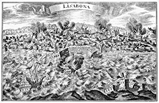 Lisbon Earthquake 1755 Nthe Great Earthquake In Lisbon Portugal 1 November 1755 Contemporary German Broaadside Poster Print by (24 x 36)