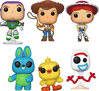 Funko Pop! Disney: Toy Story 4 - Woody, Buzz, Jessie, Bunny, Ducky, and Forky Collectible Figures...