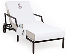 Linum Home Textiles CL00-SWP-ANC Anchor Chaise Lounge Cover W/P, White