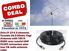 Sirio SY 27-3 3 Elements Yagi Beam CB/10Meter Antenna 100Ft Coax Cable