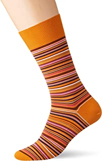 FALKE Men Happy 2-Pack Socks - 80% Cotton, Black (Black 3000), UK 8.5-11 (Manufacturer size: 43-46), Pack of 2